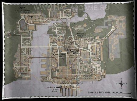 арта Empire Bay. Карта датирована 1948 годом.